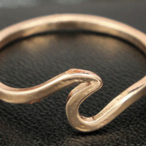 Jewelry - Wave Rings Rose Gold Beach 6,7,8